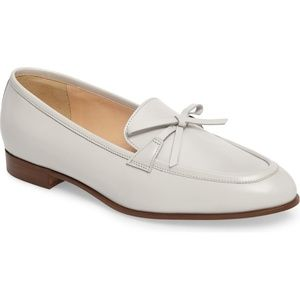 J. Crew White Bow Loafers Flats 6.5